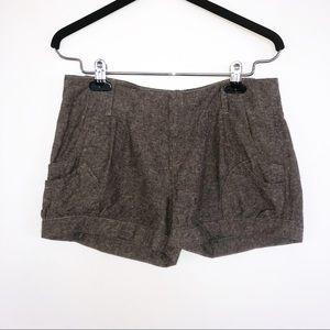 BCBG Brown Dress Linen Shorts with Pockets
